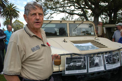 Ross Hopkins was responsible for the parade of heritage vehicles