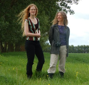 Out standing in their field - Annette and Iris in Gordonton.