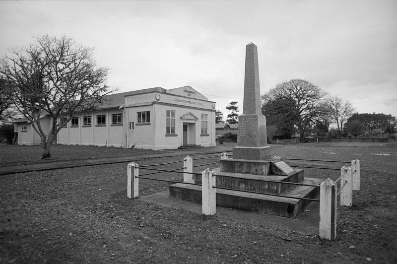 Gordonton cenotaph and hall, 1970s