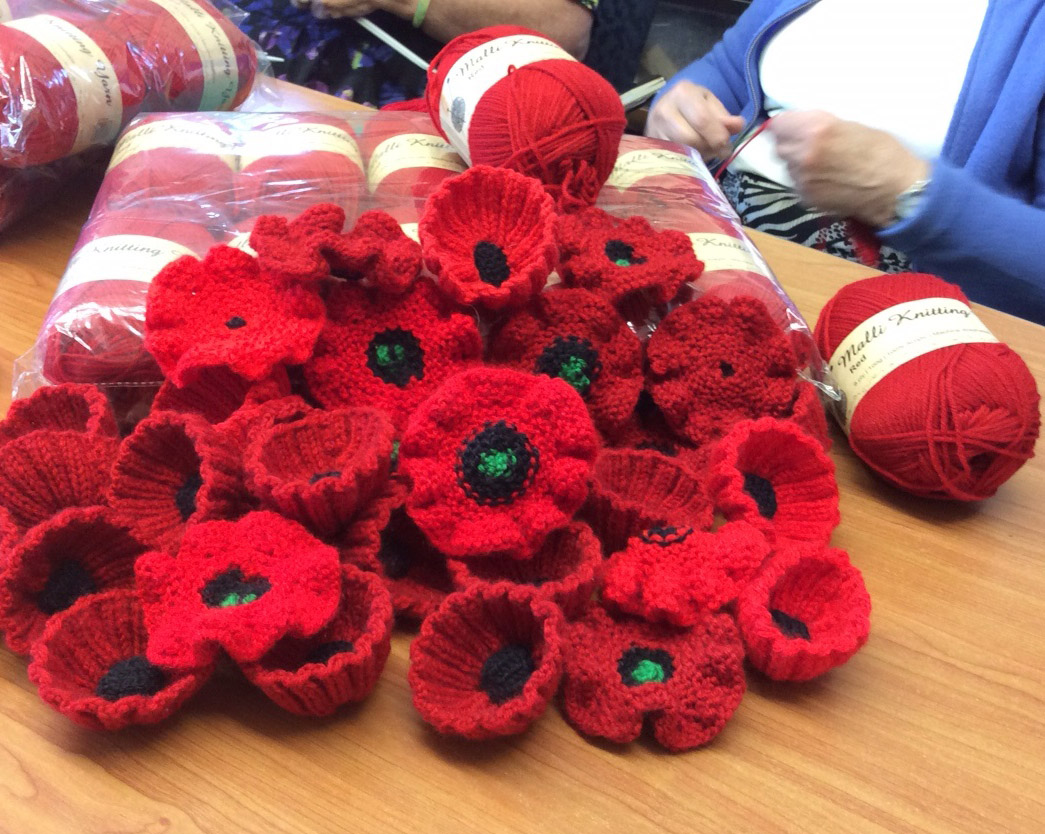 Knitting Pattern For Anzac Day Poppies : ANZAC Poppy Tree project growing fast - Number 8 Network