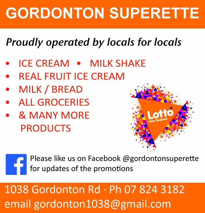 Ad for Gordonton Superette