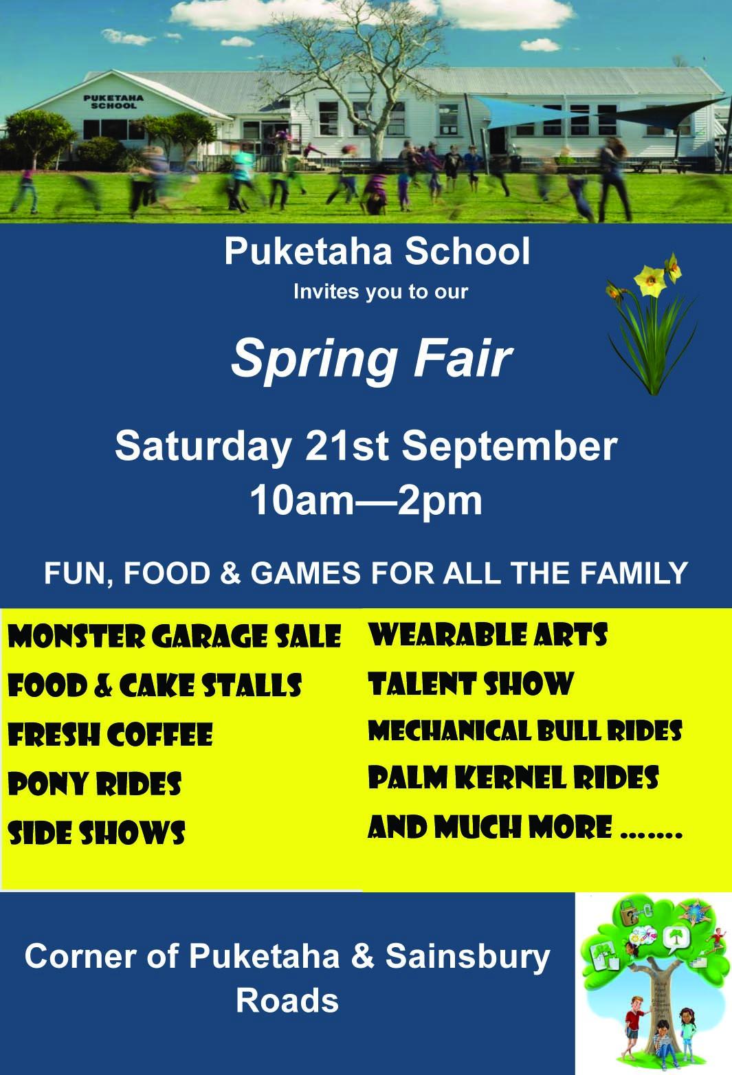 Ad for Puketaha spring fair