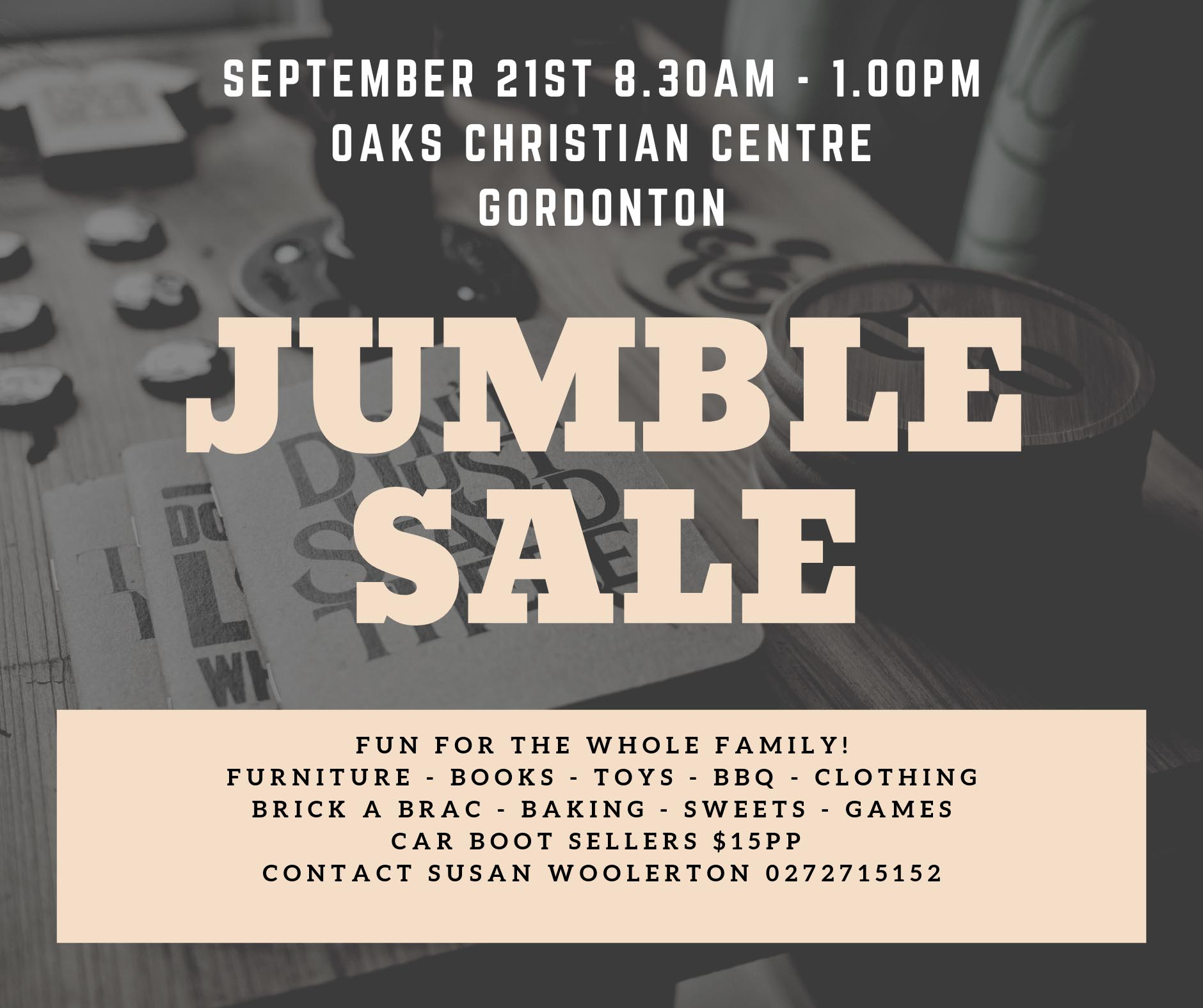 Photo of jumble sale